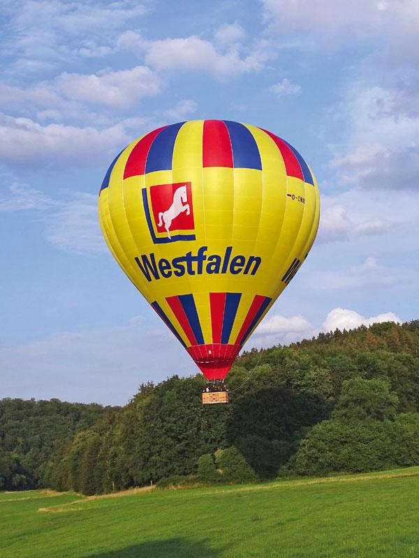 Ballonfahrt, kurz nach dem Start