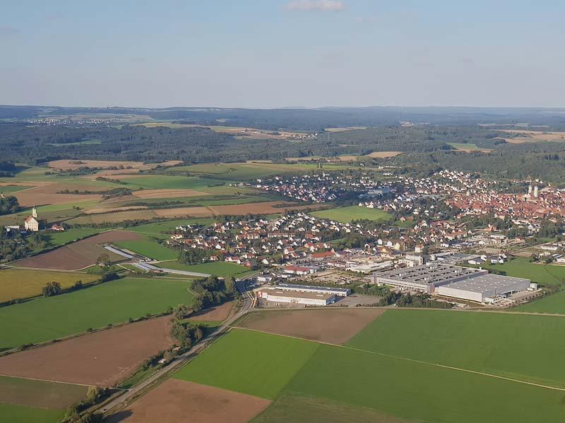 Ballonfahren, Charter, Raum Wertingen
