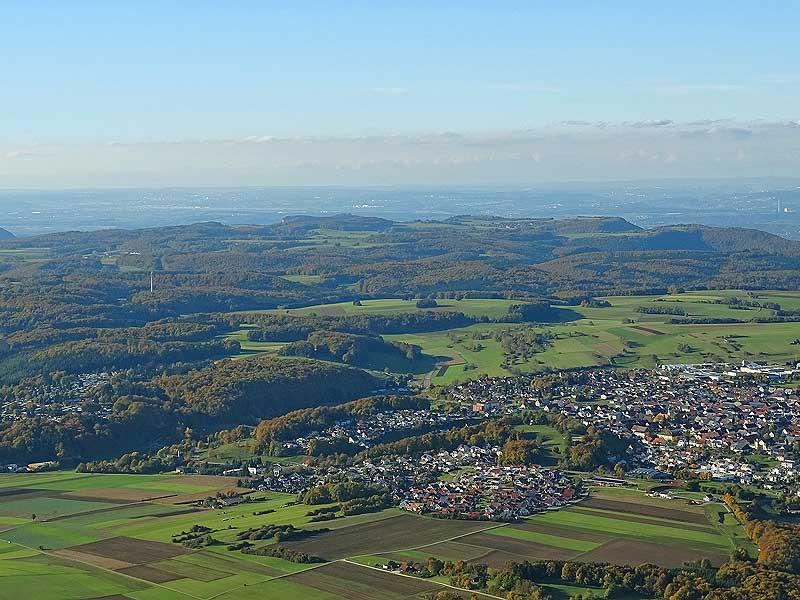 Ballonfahrt, Landschaft der Schwäbischen Alb